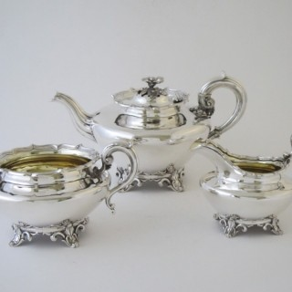 Antique William IV Sterling silver tea set