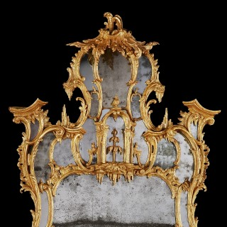 A George III Giltwood Pier Mirror In the Manner of Thomas Johnson