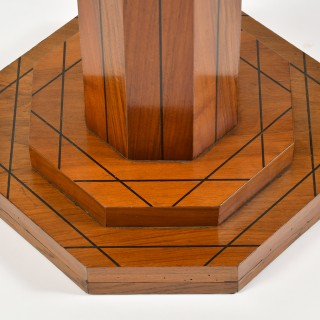 An Art Deco walnut guéridon table