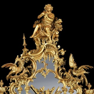 A George III Style Carved Giltwood Mirror After a design by Thomas Johnson