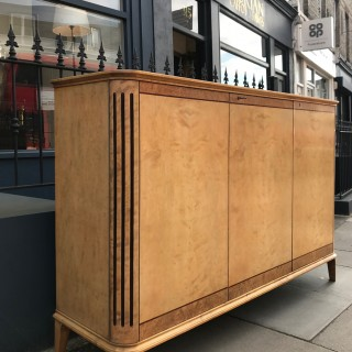 A Swedish  Art Deco satin birch sideboard