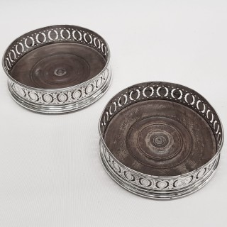 George III Silver Wine Coasters