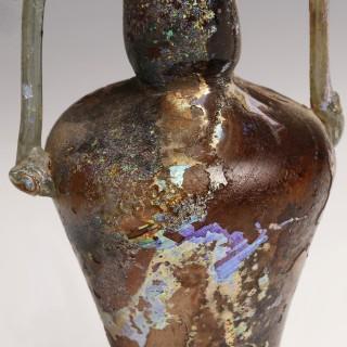 Roman Two-Handled Glass Amphoriskos