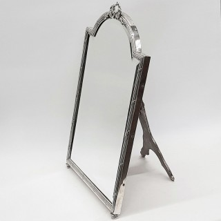Antique French Silver Mirror