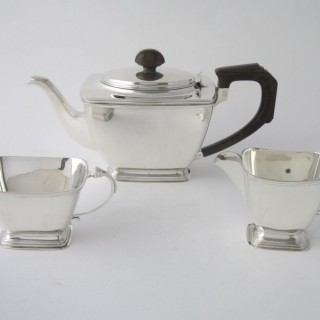 Art Deco Sterling silver tea set