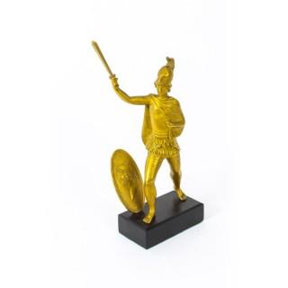 Antique Italian Grand Tour Bronze figure of Roman Soldier 19th C