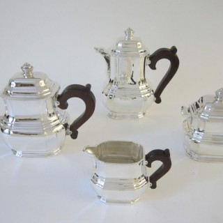 Art Deco French silver tea set