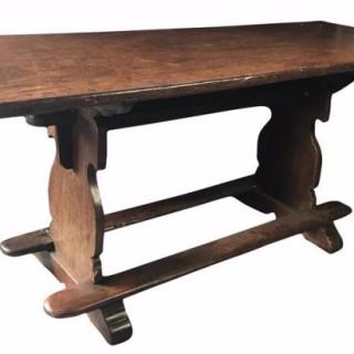 18th Century Oak Trestle Table