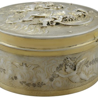 Sterling Silver Gilt Box - Antique Victorian (1899)