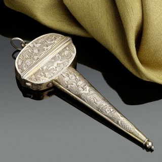 A Silver Gilt Scissor Case