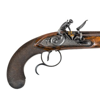 Captain Coghlan's duelling pistols by Twigg of London