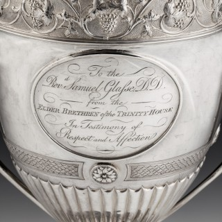 Trinity House silver presentation cup and cover, 1795