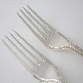 Antique Victorian Sterling silver cutlery set