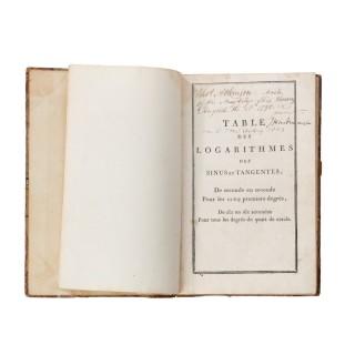 Master Thomas Atkinson's captured French Log Tables, 1798