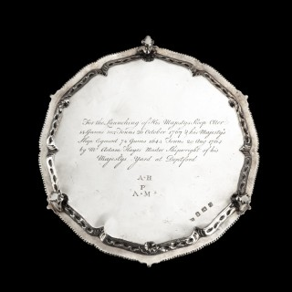 Presentation silver to the Master Shipwright of Captain Cook's Endeavour