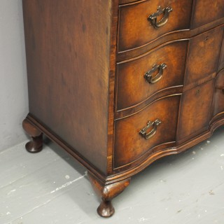 George II Style Walnut Chest on Chest