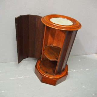 Victorian Mahogany and Marble Bedside
