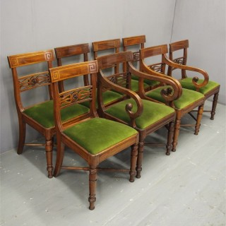 Set of 8 George IV Mahogany Dining Chairs