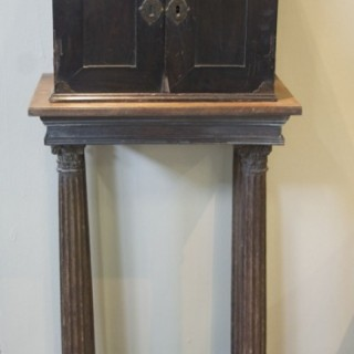 An early 17th century Flemish ebony veneered table cabinet