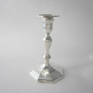 Antique George V Sterling silver single candlestick