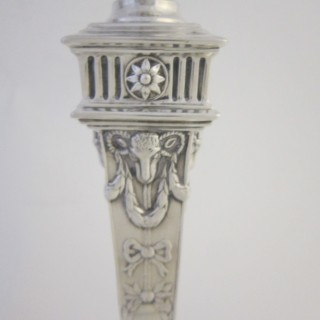 Antique Victorian Sterling silver candlesticks