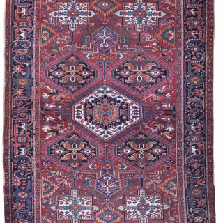 Antique Heriz carpet, 'Karaja' design, Persia
