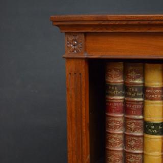 Victorian Walnut Open Bookcase