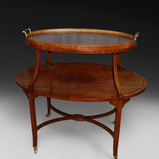 Victorian Mahogany oval tray table