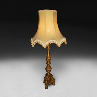 19th. Century Italian carved  Giltwood oil lamp stand