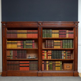 Exceptional quality Victorian Mahogany Open Bookcase