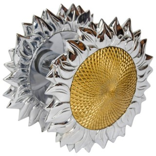 Large double sided sunflower shaped door handle by Chrystiane Charles