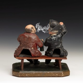 Papier mâché 'smoking' model of 'The Lobster & Crab'