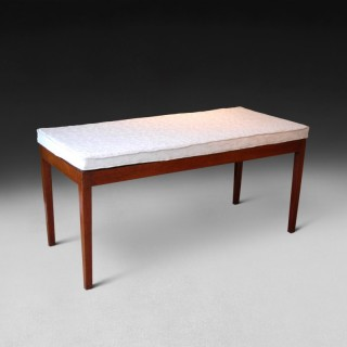 George III Mahogany Bed Foot Stand  by I.M. Gillows of Lancaster.
