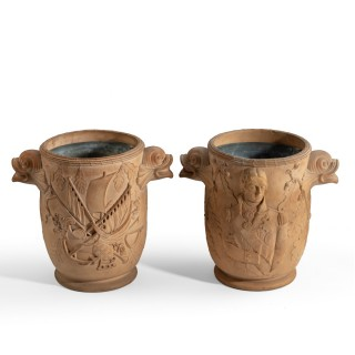 A pair of Nelson commemorative wine coolers by Davenport