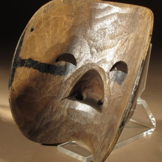 An Interesting Wooden Carved Nuo Opera Half Mask, China Circa 1920.