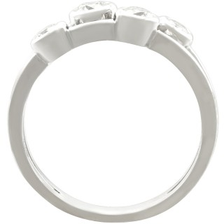 0.48 ct Diamond, 18 ct White Gold Raindance Style Ring - Contemporary Circa 2000