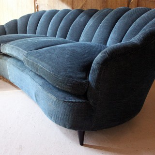 A French Shell Backed & Ebonised Sofa c.1930