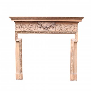 Georgian Carved Pine Fire Surround