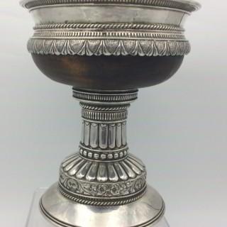 Arts and Crafts A E Jones Silver Stranding Mazer Tudor Cup 1921