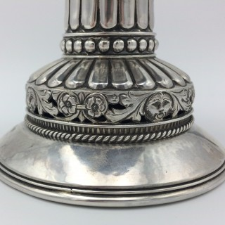 Arts and Crafts A E Jones Silver Stranding Mazer Tudor Cup 1921