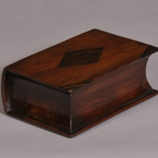 Antique Treen 19th Century Yew Wood Book Box