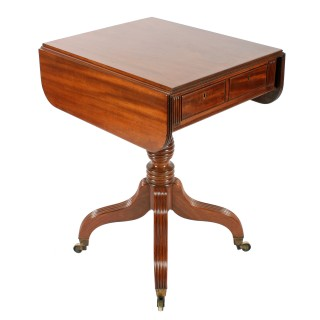 Georgian Mahogany Drop Leaf Table