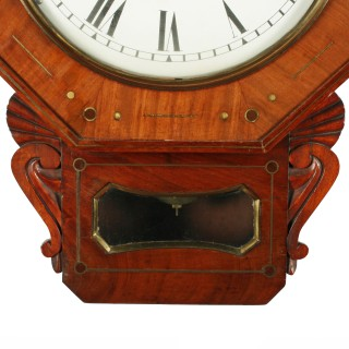 George IV Fusee Wall Clock