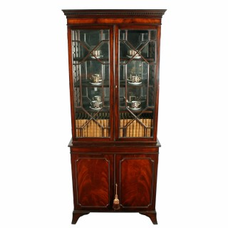 Georgian Style Cabinet Bookcase
