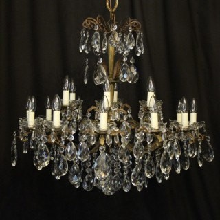 Italian 18 Light Double Tiered Antique Chandelier