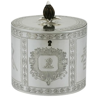 Sterling Silver Tea Caddy - Aesthetic Style - Antique George III (1780)