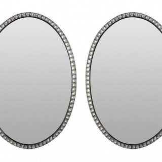 A PAIR OF GEORGIAN STYLE IRISH MIRRORS