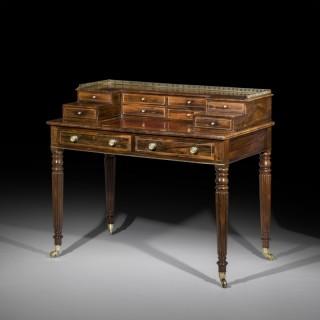 Regency Rosewood Brass Inlaid Carlton House Desk