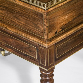 Regency Rosewood Brass Inlaid Carlton House Desk