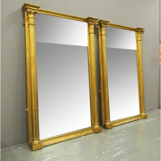 Pair of George IV Carved and Gilded Pier Mirrors